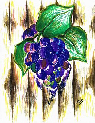 Ripened Grapes Art Print by Teresa White