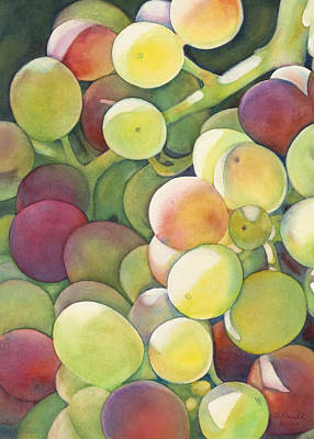 Grape Painting - Ripening by Sandy Haight