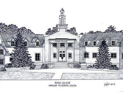 Drawing - Ripon College by Frederic Kohli