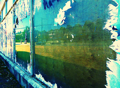 Photograph - Ripped Reflection 2 by Laurie Tsemak