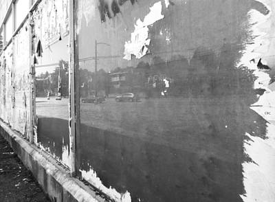 Photograph - Ripped Reflection Bw by Laurie Tsemak