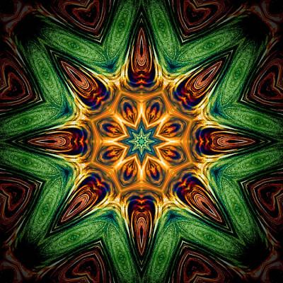 Photograph - Ripple Burst Mandala by Beth Sawickie