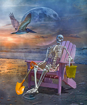 Human Skeleton Photograph - Ripple Ripple by Betsy Knapp