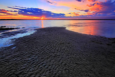 Photograph - Rippled Sunset by Paul Svensen