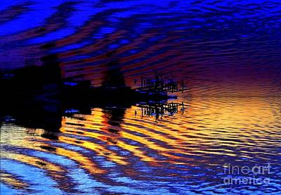 Photograph - Ripples And Reflection by JCYoung MacroXscape