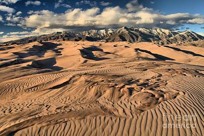 Photograph - Ripples Dunes And Snowcaps by Adam Jewell