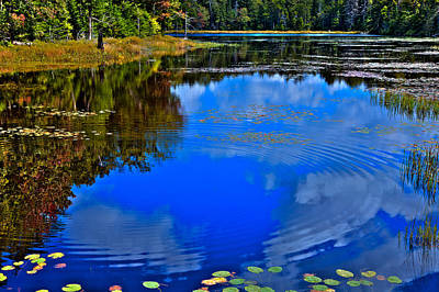 Photograph - Ripples On Fly Pond - Old Forge New York by David Patterson