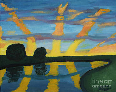 Painting - Rise And Shine by Annette M Stevenson