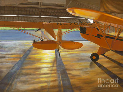 Piper Cub Painting - Rise And Shine Cubs by Pati O'Neal