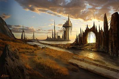 Digital Art - Rising Atlantis by Anthony Christou