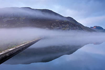 Digital Art - Rising Mist At The Elan Dam by Stephen Taylor