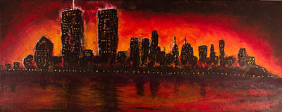 Rising Sun At Nyc Art Print