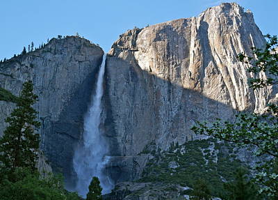 Photograph - Rising Sun At Upper Yosemite Falls by Michele Myers