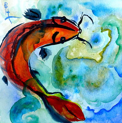 Rising To The Surface Art Print by Beverley Harper Tinsley