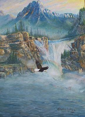 Eagle Cliff Painting - Rising Up With Eagle's Wings by Kathleen Luther