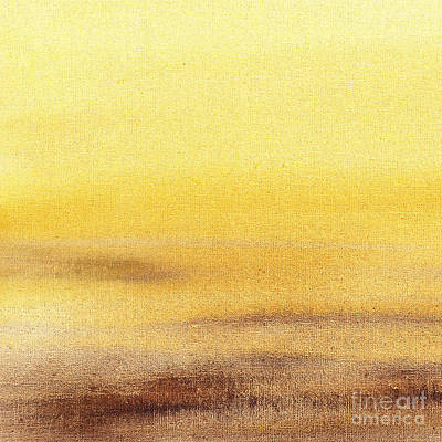 Abstract Landscape Royalty-Free and Rights-Managed Images - Rising Yellow Abstract  by Irina Sztukowski