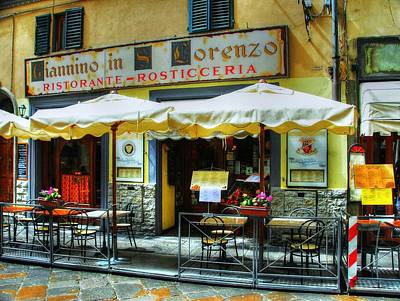 Photograph - Ristorante In Florence Italy by Mel Steinhauer