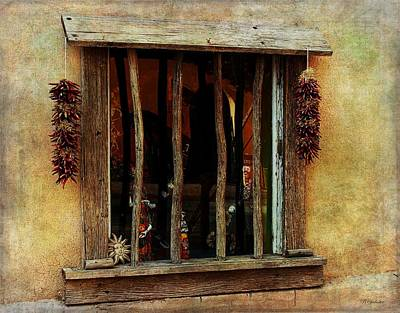 New Mexico Photograph - Ristra Window by Barbara Chichester