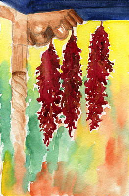 Painting - Ristras At Taos B And B by Johanna Axelrod