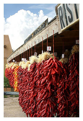 Photograph - Ristras Ristraman New Mexico Chile Peppers by Jack Pumphrey