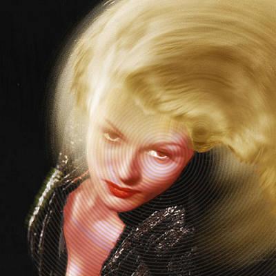 Rita Painting - Rita Hayworth And Hair by Tony Rubino