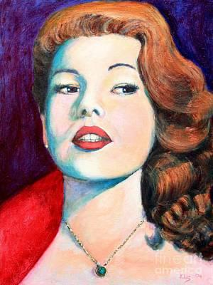 Rita Painting - Rita Hayworth by ElsaDe Paintings