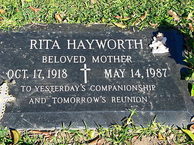 Photograph - Rita Hayworth Grave by Jeff Lowe