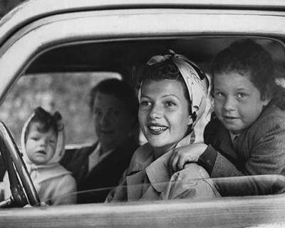 Rita Hayworth In Car Art Print by Retro Images Archive