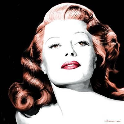 Rita Hayworth Large Size Portrait Art Print