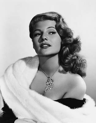 Long Necklace Photograph - Rita Hayworth, Mid-1950s by Everett