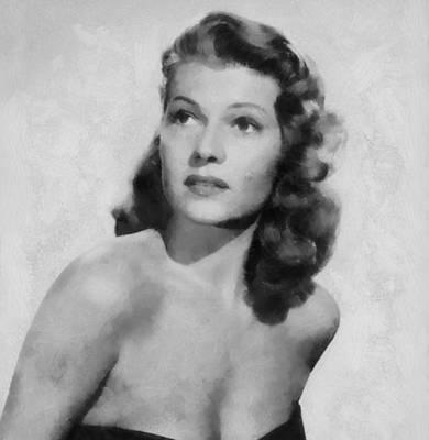Rita Hayworth Poster Art Print by Dan Sproul