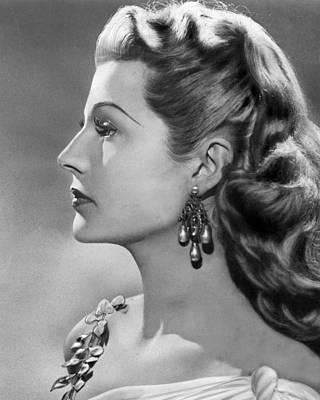Rita Hayworth Profile  Art Print