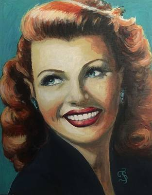 Painting - Rita Hayworth by Shirl Theis