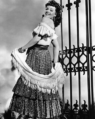 Kelly Photograph - Rita Hayworth Traditional Dress by Retro Images Archive
