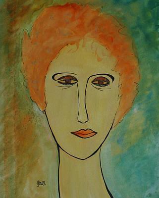Painting - Rita  by Oscar Penalber