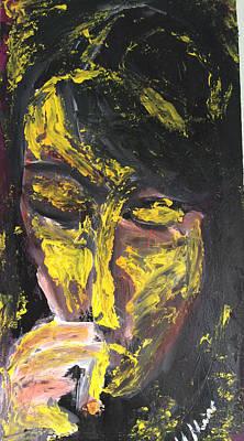 Volto Painting - Ritratto by Massimiliano Marino