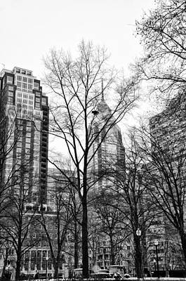 Phillies Photograph - Rittenhouse Square In Black And White by Bill Cannon