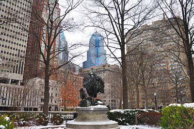 Rittenhouse Square In The Winter Art Print by Bill Cannon