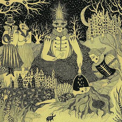 Drawing - Ritual, 2012 by Dariya Hlazatova