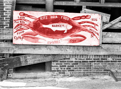 Sea Foods Digital Art - Ritz Sea Food Market Baltimore Md by Bill Cannon