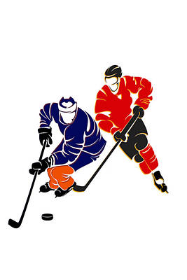 Rivalries Oilers And Flames Art Print by Joe Hamilton