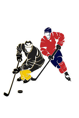 Rivalries Penguins And Capitals Print by Joe Hamilton
