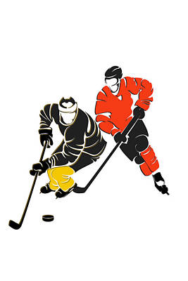 Rivalries Penguins And Flyers Art Print by Joe Hamilton