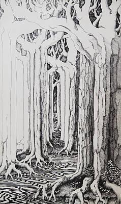 Tolkien Drawing - Rivendell by Rachel Christine Nowicki