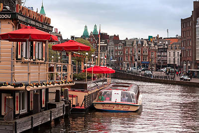 Photograph - River Amstel Amsterdam by Shirley Mitchell