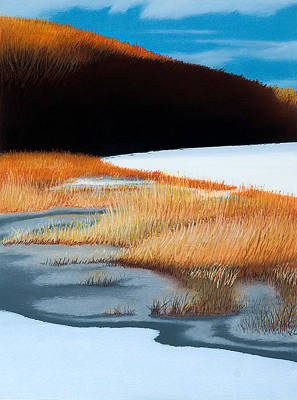 River And Reeds Art Print by Bruce Richardson