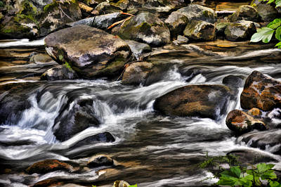 River And Rocks Art Print