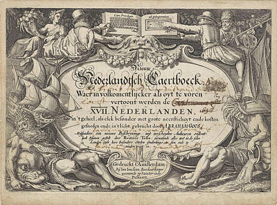 Cornucopia Drawing - River And Sea Gods With Tradesmen, Pieter Serwouters by Pieter Serwouters And Johannes Janssonius