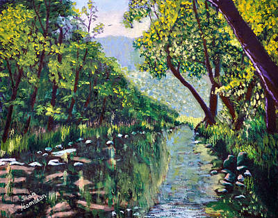 Painting - River And Trees by Stan Hamilton