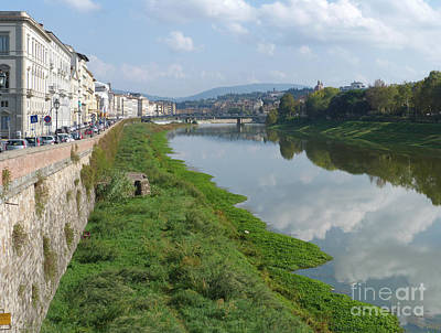 Photograph - River Arno - Florence - Italy by Phil Banks